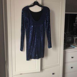 Dark Blue Topshop Dress